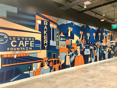 Murals by Emily Fromm - Rancho Art Productions seen at San Antonio Road, Mountain View - WeWork Mural