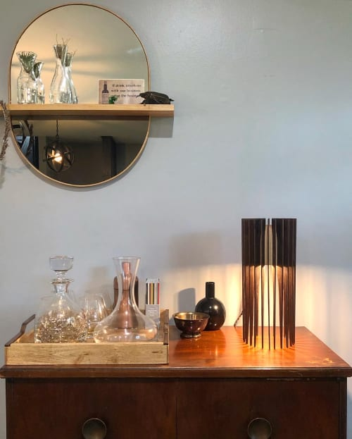 Lighting Design by Brandon Harder Art and Design seen at Private Residence, Decatur - Brasília lamp