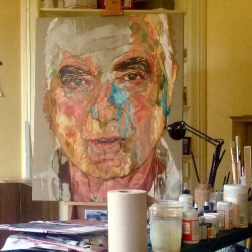 Paintings by Kim Hart. Portraitist. seen at Private Residence, San Francisco - Portrait of a Man, San Francisco