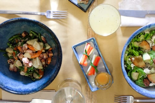 Tableware by Jacopo Lupi seen at Muzzi Breakfast & Salad Bar Milano, Milano - Salad bowl and side plates