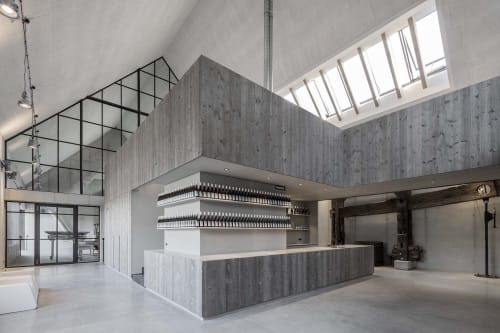 Architecture by destilat Design Studio GmbH seen at Private Residence, Kirchberg am Wagram - Wine manufactury Clemens Strobl