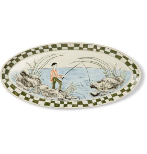 Ceramic Plates by Botticelli Ceramics seen at MR PORTER, Amsterdam - 3 BODE + Botticelli Ceramics Painted Porcelain Dish