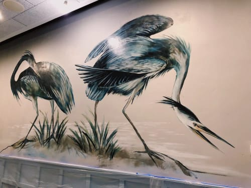 Murals by Charly Malpass Art seen at New Haven, New Haven - Blue Herons