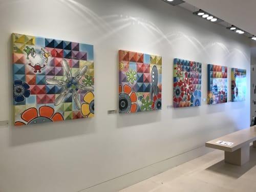 Paintings by Johnny Botts at China Basin, San Francisco - Going Places