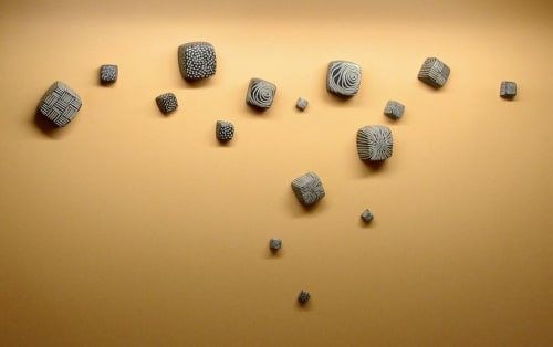 Sculptures by Larry Halvorsen seen at Pittsburgh, Pittsburgh - Cubes Wall Grouping