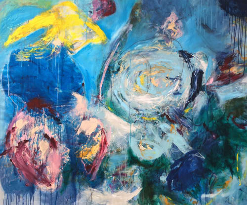 Paintings by Elisa Gomez Art seen at The Midway, San Francisco - Untitled Blue