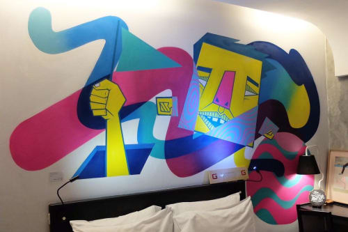 Murals by Adi Dharma seen at ARTOTEL Thamrin - Jakarta - Universe Behind The Doors