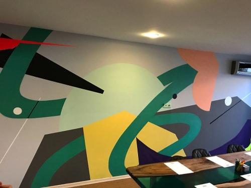 Murals by Mr. Hure seen at BRAVEBORN FILMS - Emerald