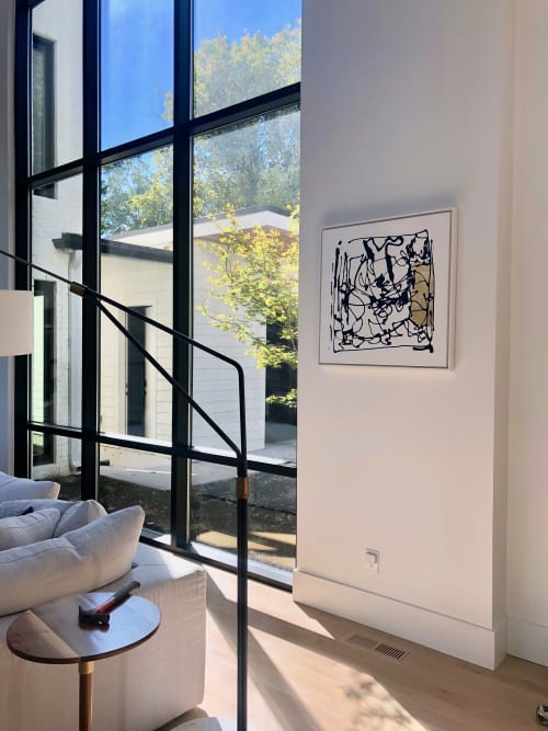 Paintings by Isabelle Gautier's ART seen at Private Residence, Nashville - INTRICATE Series,