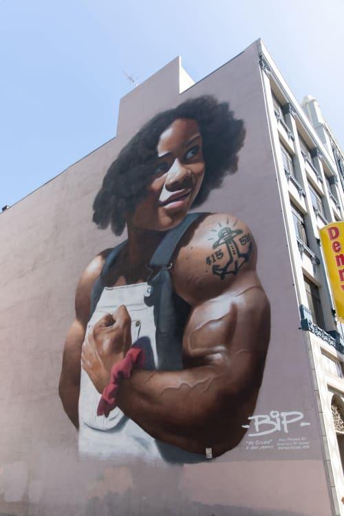 Street Murals by BiP seen at 816 Mission Street, San Francisco, CA, San Francisco - No Ceiling