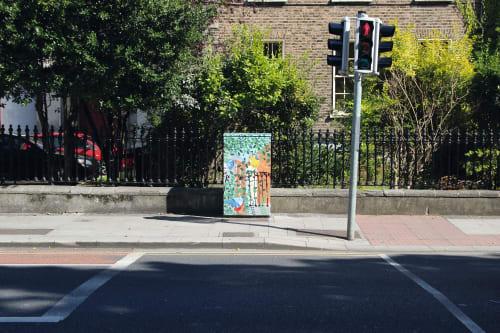 Street Murals by Harriet Browne seen at Rathmines Road Lower, Dublin - Behind the Leaves