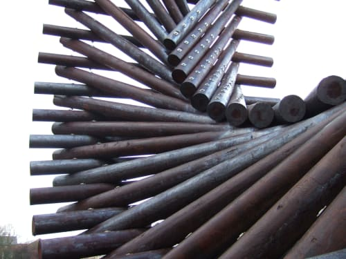 Public Sculptures by Locky Morris seen at Letterkenny, Letterkenny - Polestar