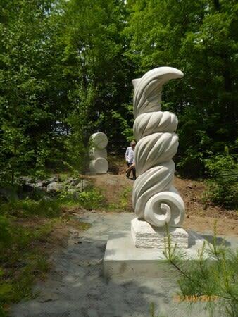 """Public Sculptures by John McKinnon seen at Haliburton Sculpture Forest, Haliburton - """"Wind Dervish"""""""