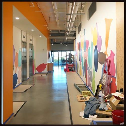 Murals by Casey Gray seen at Facebook, Menlo Park - Indoor Mural