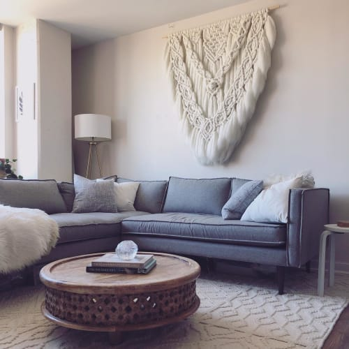 Macrame Wall Hanging by ORE + WOOL by Tarah Boyd seen at Private Residence, Washington - Macro-Macrame