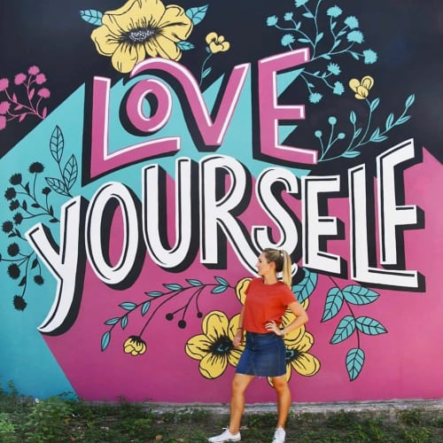 Murals by Tara Johnston seen at Austin, Austin - Love Yourself