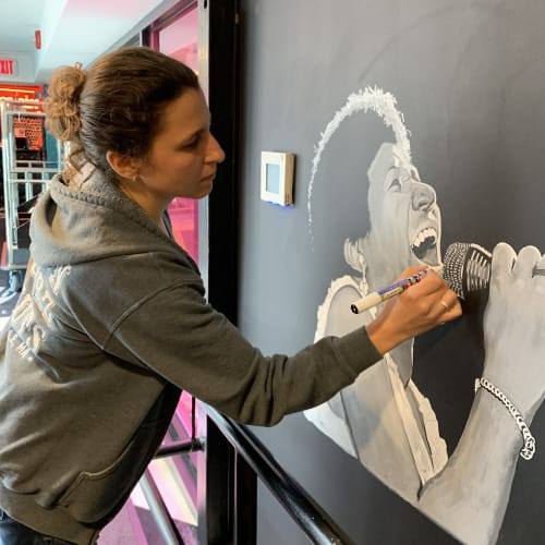 Murals by Chalkin About Boston seen at The Verb Hotel, Boston - Aretha Franklin