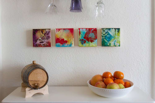 Paintings by Heather Robinson seen at Lake Merritt, Oakland - 30x30 Paintings
