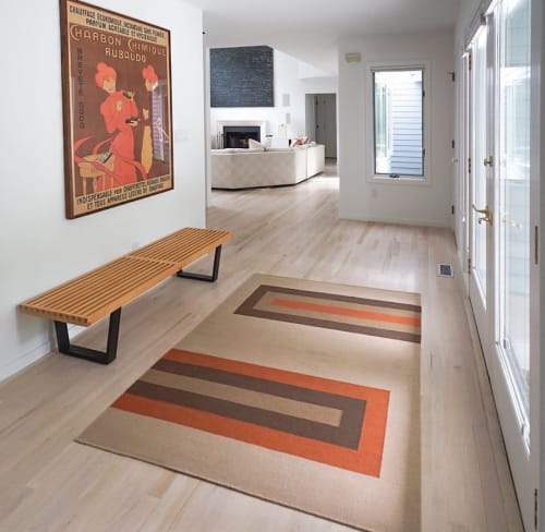 Rugs by Lucy Tupu Studio seen at Private Residence, Quogue - Quogue-Entry Way