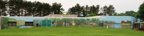 Murals by Glenn Terry seen at East Bethel City Hall, East Bethel - City Hall and Community Center mural