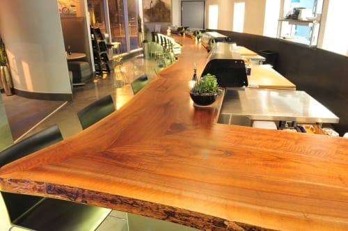 Tables by Bang Bang Designs seen at Squid Ink Sushi Bar - CityScape, Phoenix - Communal Table