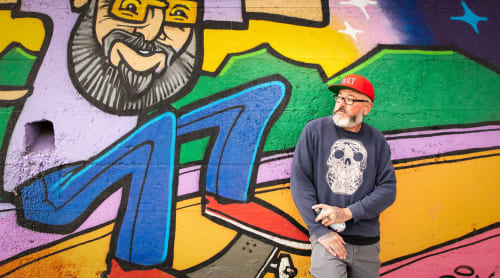 Street Murals by Sonny Wong - Skater Mural