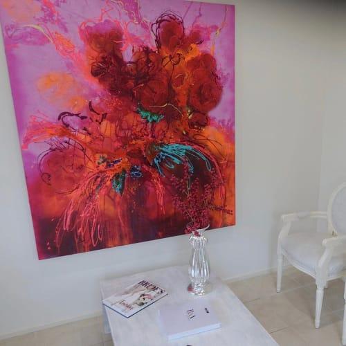 Paintings by Kerry Bruce seen at Skin Correctives - Wollongong, Wollongong - Rose Bloom
