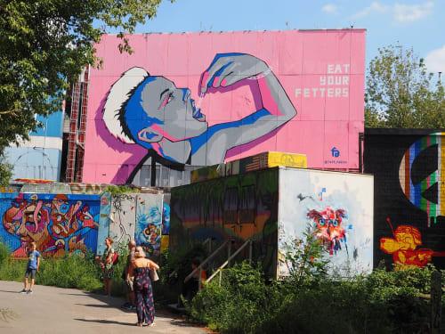 Painted Mural | Street Murals by Fabifa | Teufelsberg in Berlin