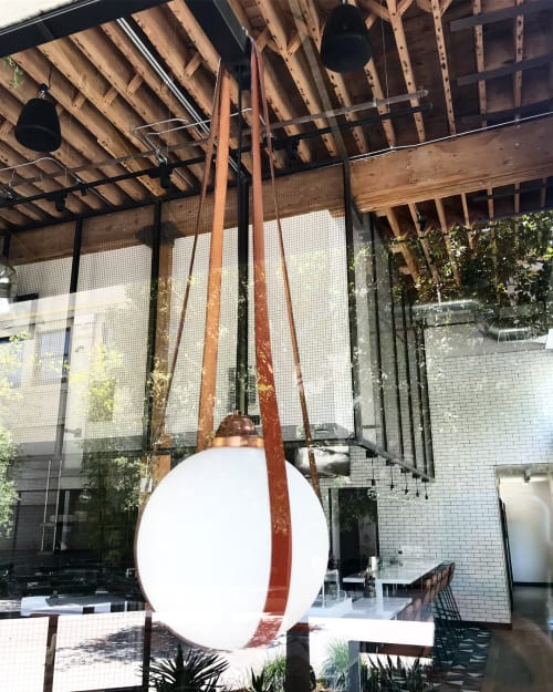 Pendants by PAUL PAIGE seen at Rappahannock Oyster Bar (DTLA), Los Angeles - Rappahannock in L.A.