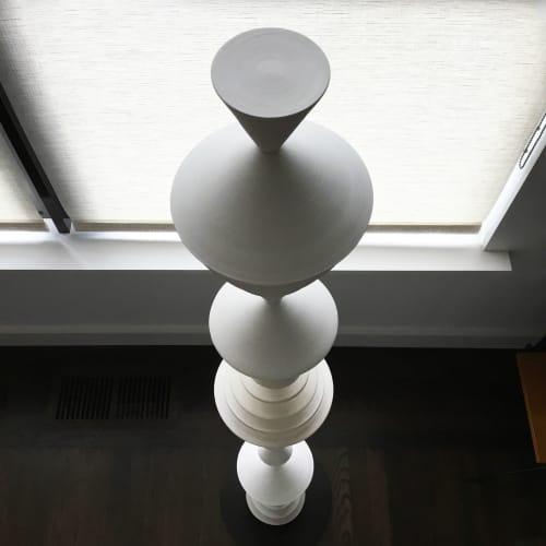 Sculptures by Zuzana Licko seen at Creator's Studio, Berkeley - White Totem Sculpture