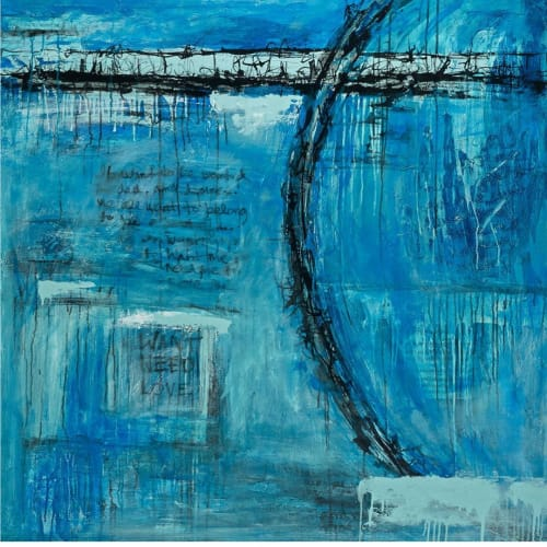 Paintings by Michelle S. Burt seen at Private Residence, Dana Point - Mixed Media Painting