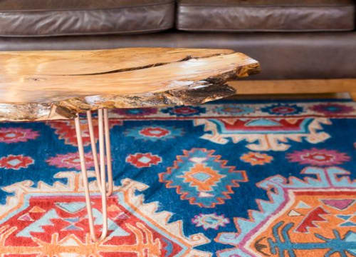 Tables by Stockton Heritage seen at Private Residence, Minneapolis - Live Edge Coffee Table
