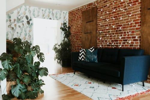Pillows by Habitation Boheme seen at Terra LaRock's Home - Mud Cloth Pillows