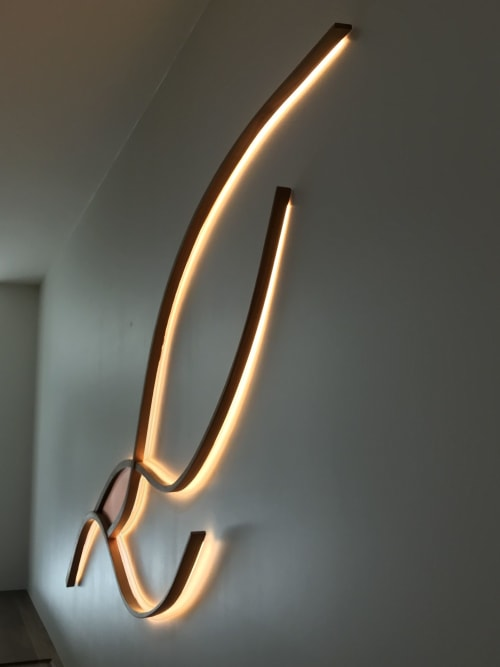 Lighting by Kurva Design seen at Private Residence, Vancouver - Kelp