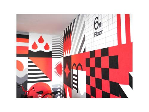 Wallpaper by Studio LCD seen at Dubai, Dubai - Radisson Red Hotel