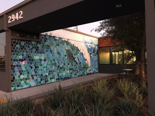Street Murals by Avid Illustrations seen at BizHaus, Costa Mesa - 'Mosaic' Wave