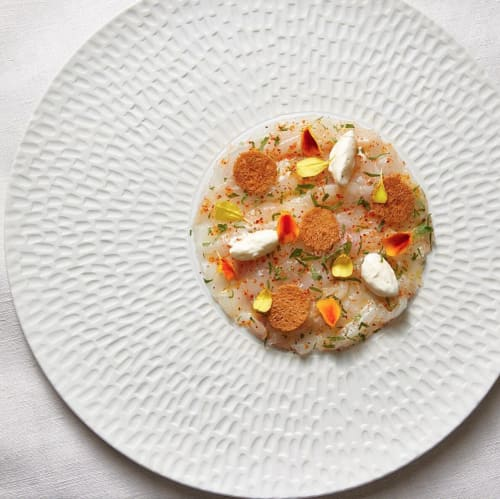 Ceramic Plates by Mieke Cuppen seen at JY's, Colmar - Texture plate Chuva