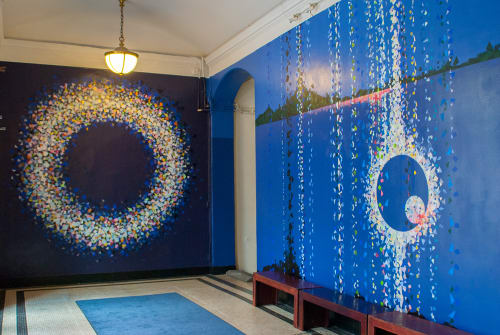Murals by Tomo Mori seen at Miller Theatre, New York - Concerto Encircling