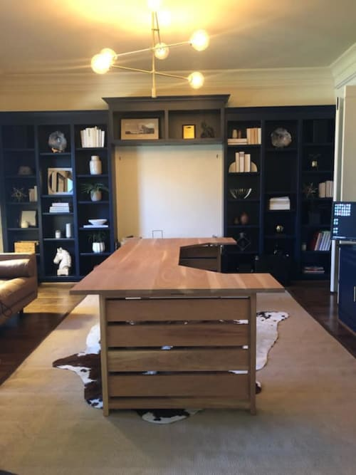 Tables by RAW to Reclaimed Woodworking seen at Private Residence - Marvin, NC, Marvin - Desk