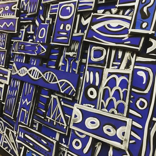 Paintings by Elliott C Nathan seen at Betabrand, San Francisco - Mixed Media Art