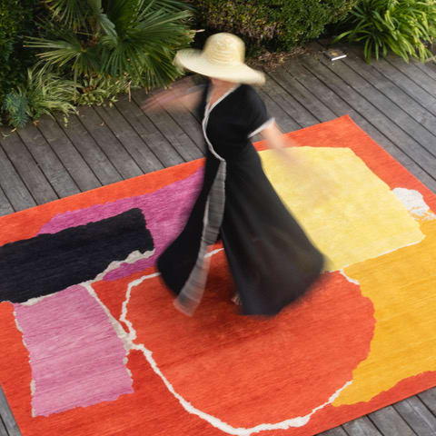 Art & Wall Decor by Charlotte Culot seen at Private Residence - RHIZOMES 1 Colored, Tapis d'artiste,limited edition. This one is the number 1/7.