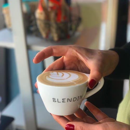 Cups by notNeutral seen at BlendIn Coffee Club, Sugar Land - Custom LINO Cup