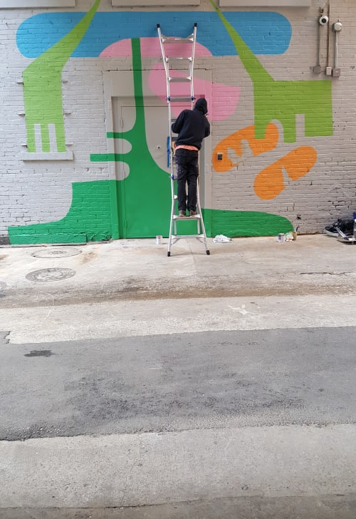 Street Murals by Holey Kids seen at Tulsa, Tulsa - Tulsa Art Alley