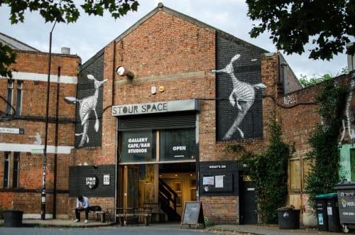 Murals by Kuba seen at Stour Space, London - Fetzenfisch Mural