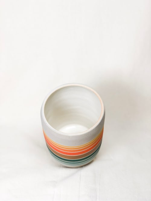 Tableware by Amanda Medak Ceramics seen at Private Residence, Los Angeles - Hermosa Canister 2