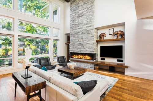 Fireplaces by Electric Modern seen at Private Home, Middleton - E72: 3-Sided Electric Fireplace
