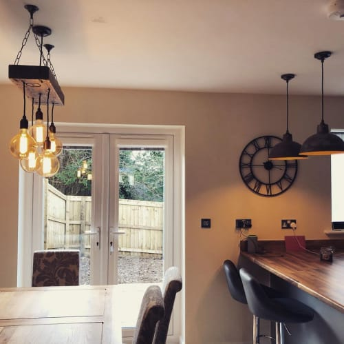 Chandeliers by MooBoo Home seen at Private Residence, Bodmin - Chandelier
