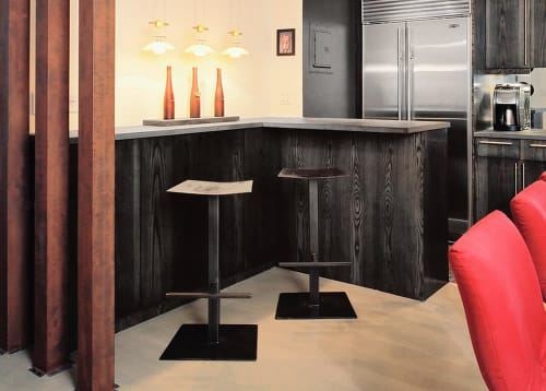 Chairs by Michael Daniel Metal Design seen at Private Residence, New York - Custom Bar Stools