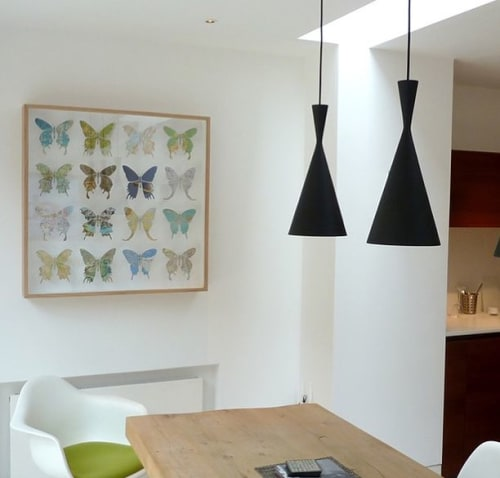Art & Wall Decor by imagesurgery seen at Private Residence, London - Sixteen Butterfly Artwork