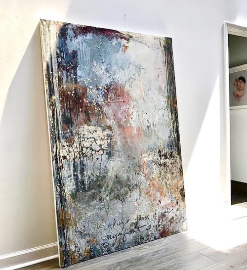 "Paintings by Erika Guillory Page seen at Private Residence, Atlanta - ""Through the Looking Glass"" Painting"